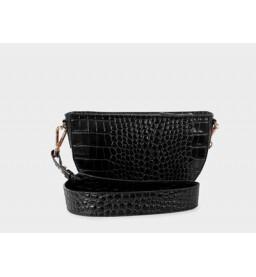 DANI CROCO BLACK SHOULDER BAG