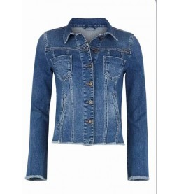 Fitted Denim Jacket  Blue