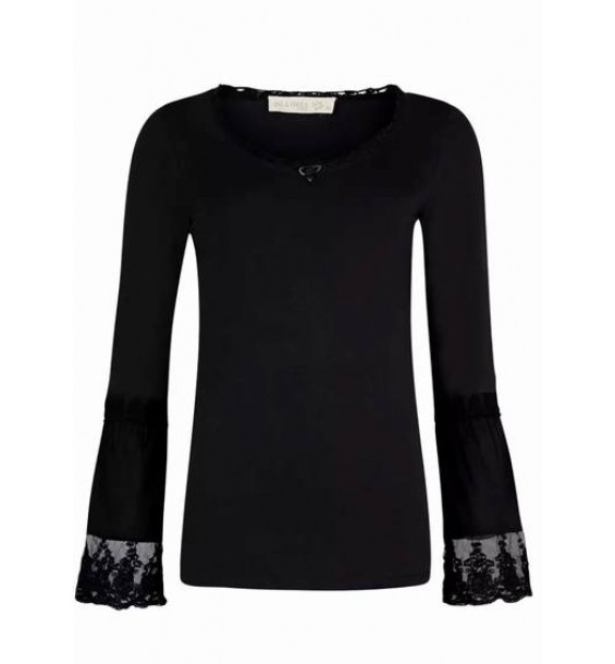 Basic Top Decorated Long Sleeves
