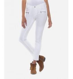 7/8th Kiev Power Skinny white jeans