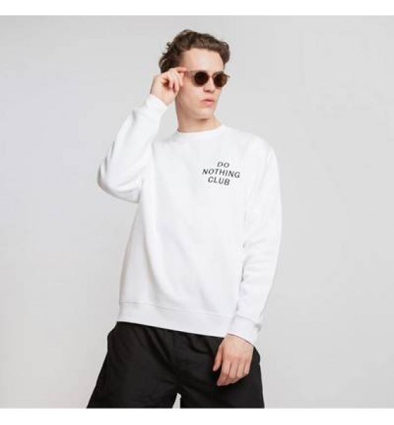 Do Nothing Club Sweater White