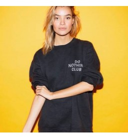 Do Nothing Club Sweater Black