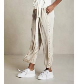 Wide pants satin