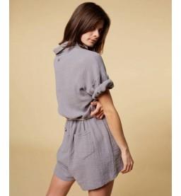 Short jumpsuit crinkle